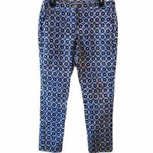 MICHAEL Michael Kors Blue Printed Ankle Pants